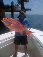red snapper fishing on a charter in venice louisiana