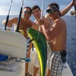 mahi maui fishing in a boat