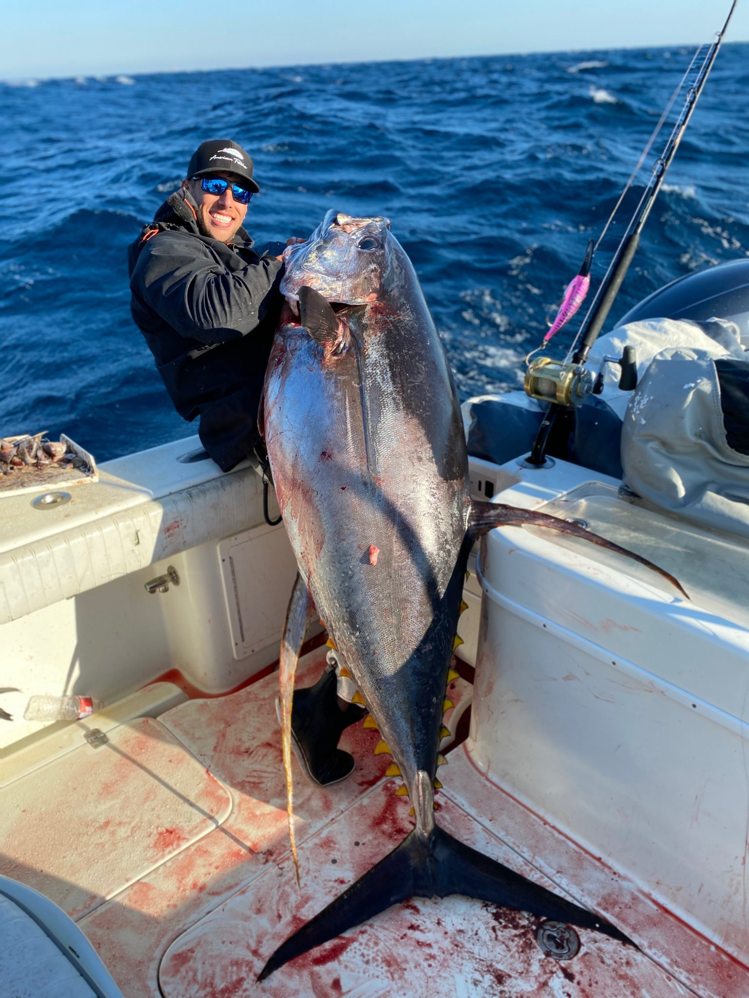 big yellowfin tuna caught in March 2020 with Home Run Charters